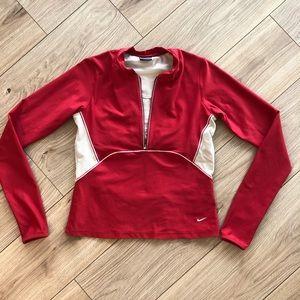 Vintage 90's Red Nike Quarter Zip Pullover, Size M